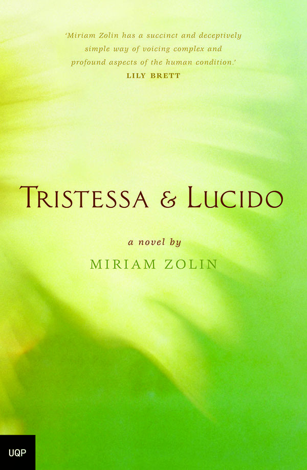 cover of novel tristessa & lucido, green with image of open wing