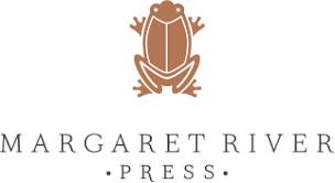 margaret river press logo with illustration of frog