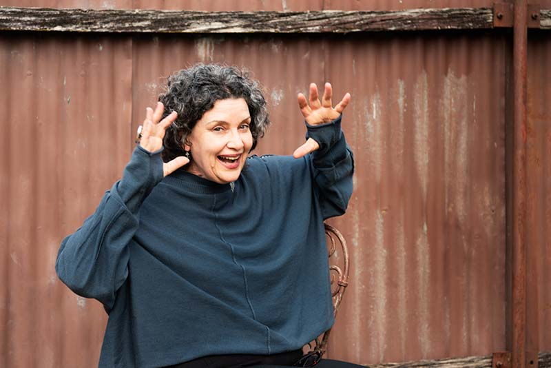 Miriam Zolin scary hands and laughing